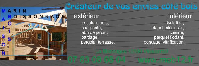 MOB12 Marin Boissonnade Maisons Ossature Bois aspect technique Règlementation contact Réalisations