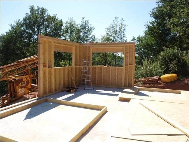 maisons ossature bois Réalisations - Structure bois